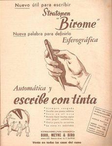 birome, bolígrafo