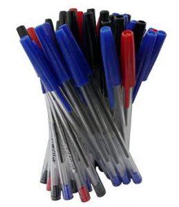 50 bolígrafos para zurdos